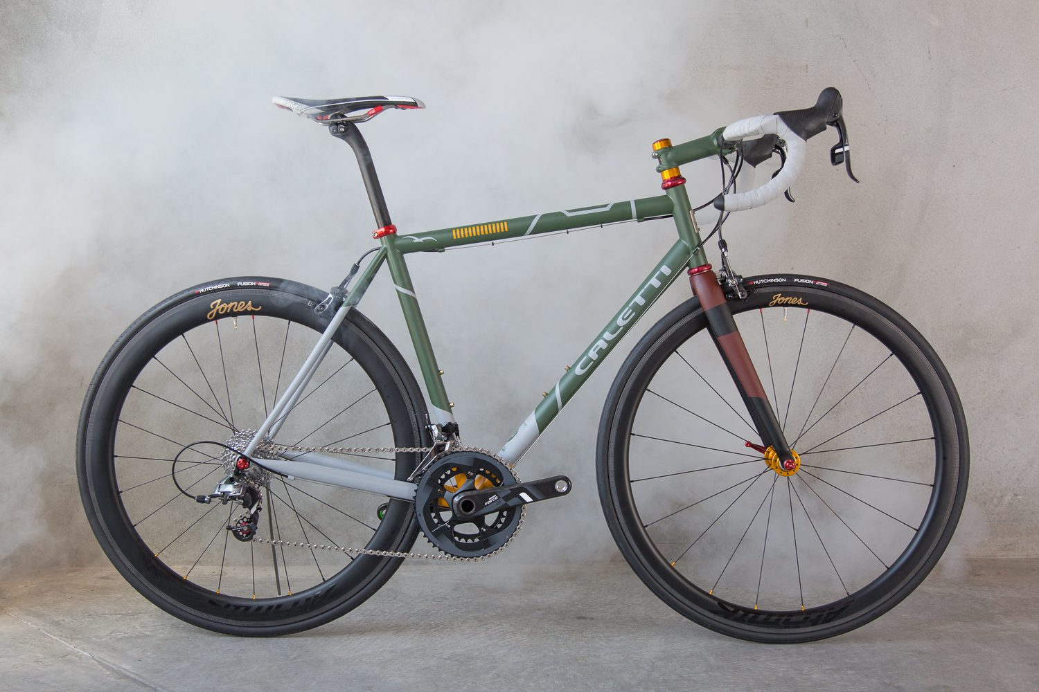 Boba Fett inspired handmade steel Road Race Special bicycle