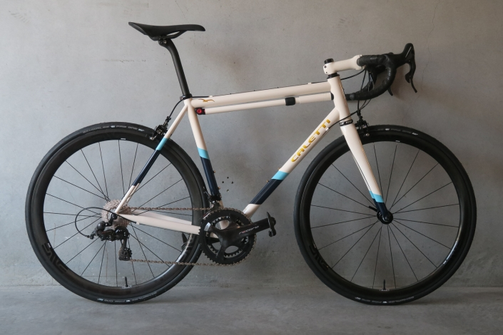 Profile of Phillip's custom Caletti Cycles steel Road Race Special